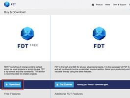 FDT のダウンロードページ