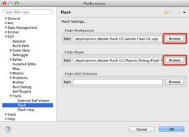 Flash IDE のパス指定